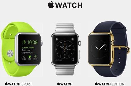 Apple Watch Three Editions