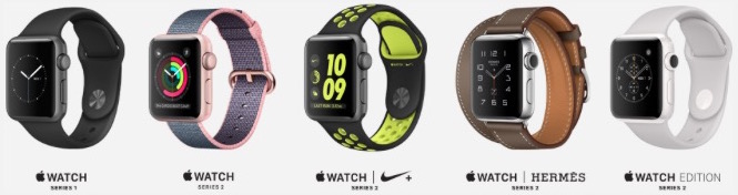 Apple Watch Lineup 2016